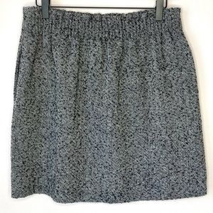 J. Crew herringbone grey tweed skirt sz. 10 NWT